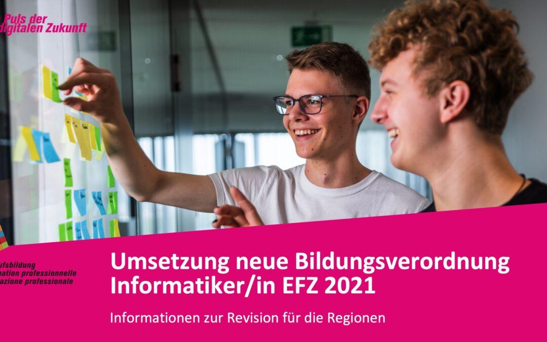 Umsetzung BiVo/BiPla 2021 Informatiker/in EFZ: Fachrichtung Applikationsentwicklung